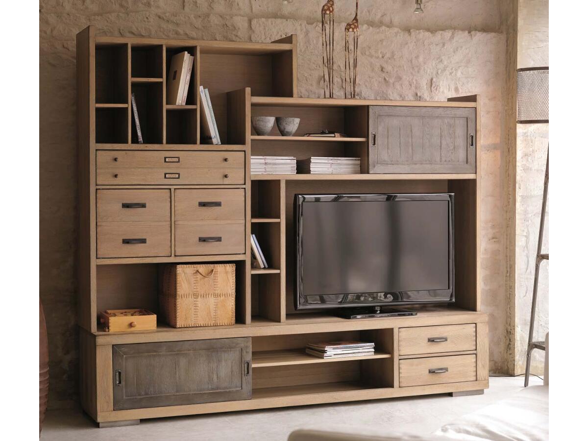 3 modulable meuble tv nozay for Meuble tv modulable